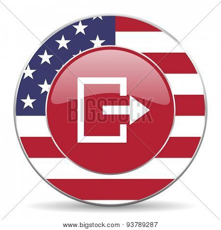 exit american icon original modern design for web and mobile app on white background