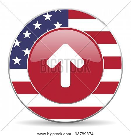 up arrow merican icon original modern design for web and mobile app on white background
