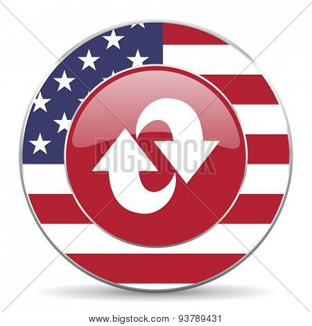 rotation american icon original modern design for web and mobile app on white background