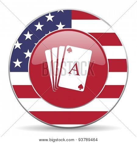 card american icon original modern design for web and mobile app on white background