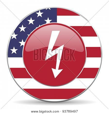 bolt american icon original modern design for web and mobile app on white background