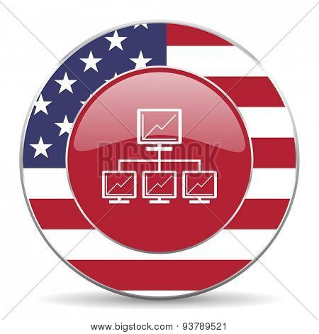 network american icon original modern design for web and mobile app on white background