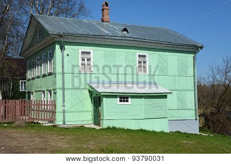 Vintage Style Rural House At Sunny Day