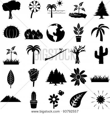 nature symbols set