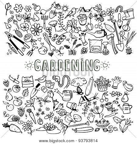 Hand Drawn Garden Icons