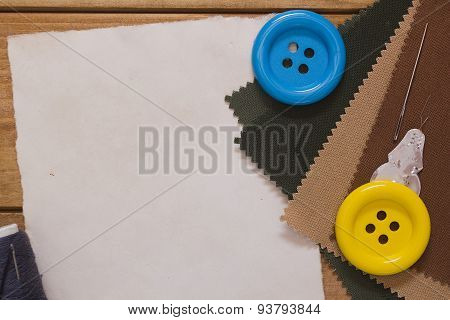 Large Buttons On The Cloth