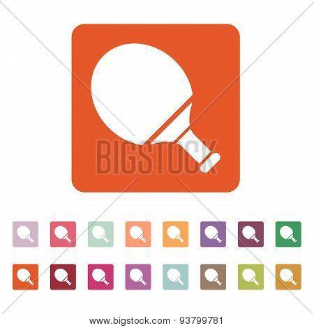 Tennis Icon. Game Symbol. Flat