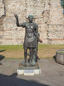 image of emperor  - Ancient Roman statue of Emperor Trajan in London UK - JPG