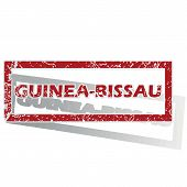 pic of guinea  - Outlined red stamp with country name Guinea - JPG