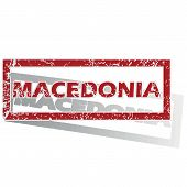 foto of macedonia  - Outlined red stamp with country name Macedonia - JPG