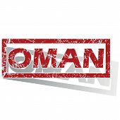 picture of oman  - Outlined red stamp with country name Oman - JPG