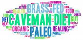 foto of fat-guts  - Caveman diet word cloud on a white background - JPG