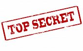 stock photo of top-secret  - Rubber stamp with text top secret inside vector illustration - JPG