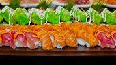 pic of buffet catering  - Closeup Japanese Cuisine  - JPG