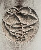 pic of carving  - Mysterious stone carved sign on a stone - JPG