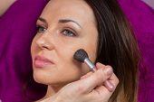 stock photo of makeup artist  - Work of make - JPG