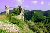 image of stone house  - Old stone house in the italian mountains - JPG