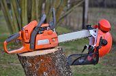 pic of bohemia  - view equipment woodcutter South Bohemia Czech Republic - JPG