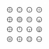 picture of crosshair  - Crosshairs icon set - JPG