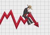 stock photo of gaucho  - Schedule business profits looks like a broken curve - JPG