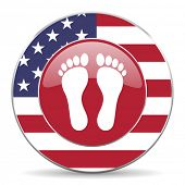 picture of webbed feet white  - foot american icon original modern design for web and mobile app on white background  - JPG