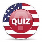 foto of quiz  - quiz american icon original modern design for web and mobile app on white background  - JPG