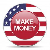 picture of american money  - make money american icon original modern design for web and mobile app on white background  - JPG