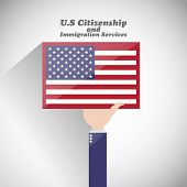 pic of citizenship  - Us citizenship and immigration services abstract vector background - JPG