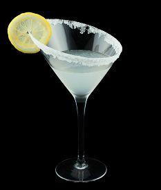 foto of vodka  - Lemon Drop Martini is a cocktail that contains vodka citron - JPG