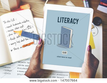 Literacy Book Education Academic Knowledge Study Concept