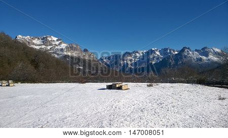 Snow-capped Picos de Europa, Castile and Leon, Spain