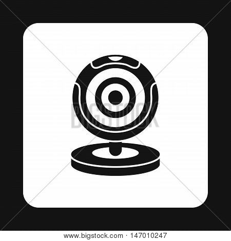 Webcam icon in simple style isolated on white background. Video symbol vector illustration