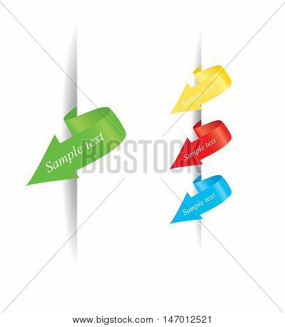 Sociological or Corporate Business infographic color arrows set