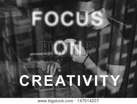 Focus On Aim Concentrate Target Determine Concept