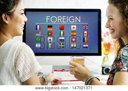 Flag Countries Foreign International Symbol Concept