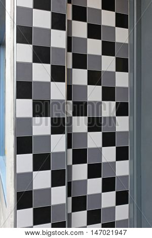 Grayscale Wall Tiles Black and White Mosaic