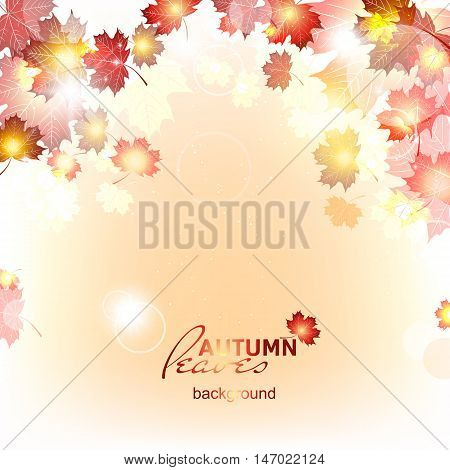 Abstract background of autumn leaf fall, deadwood.