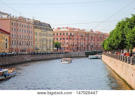 Winding waterways in the picturesque St. Petersburg