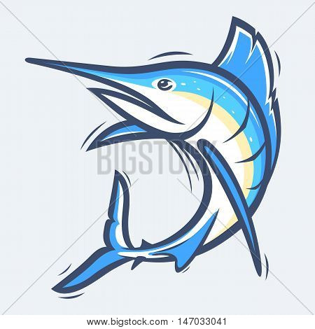 Swordfish underwater sea life vector illustration eps9