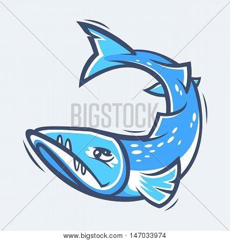 Barracuda underwater sea life vector illustration eps9