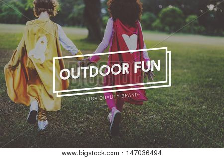 Outdoors Activity Play Fun Enjoyment Concept