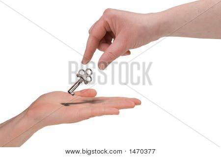 Woman Handing Key