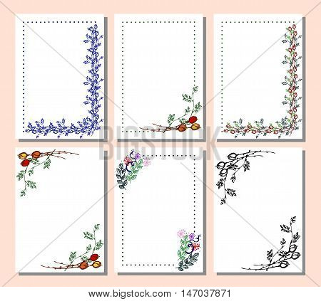 Vector Set Of Card, Frame, Border