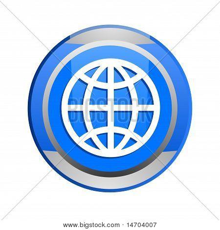 globe glossy button