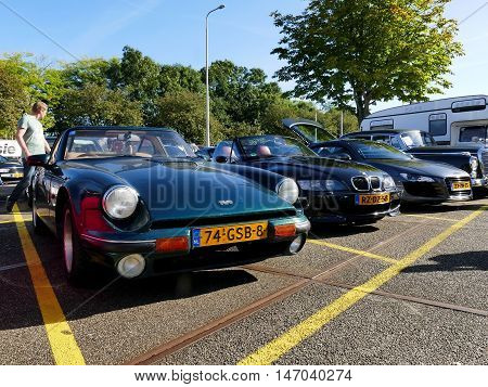 Amsterdam, The Netherlands - September 10, 2016: Green Tvr 290S 1992 On Display During Cars & Coffee
