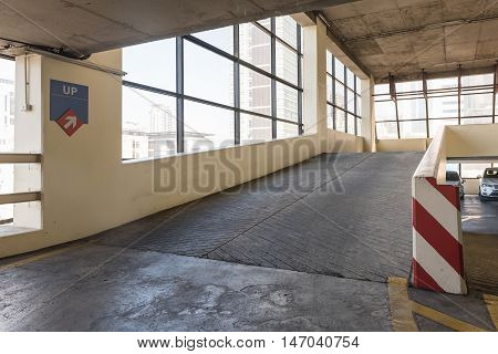 Empty Parking Deck With Ramp I