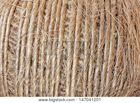 Patterns And Textures On Roll Of String Background