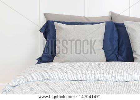 Modern Bedroom Design With Blue Color Set