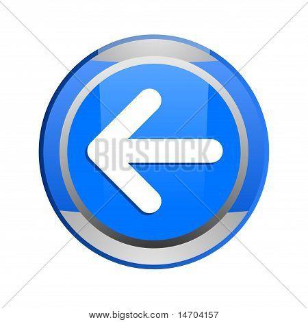 blue glossy arrow button