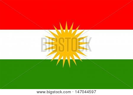 Vector Kurdistan flag
